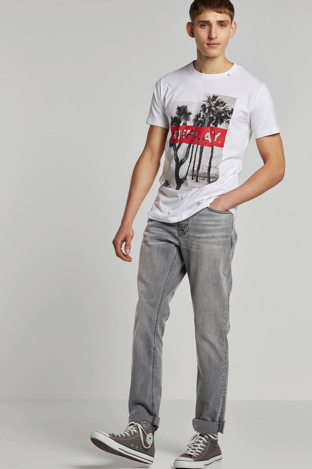Nudie Jeans regular fit jeans Lean Dean, Grey denim