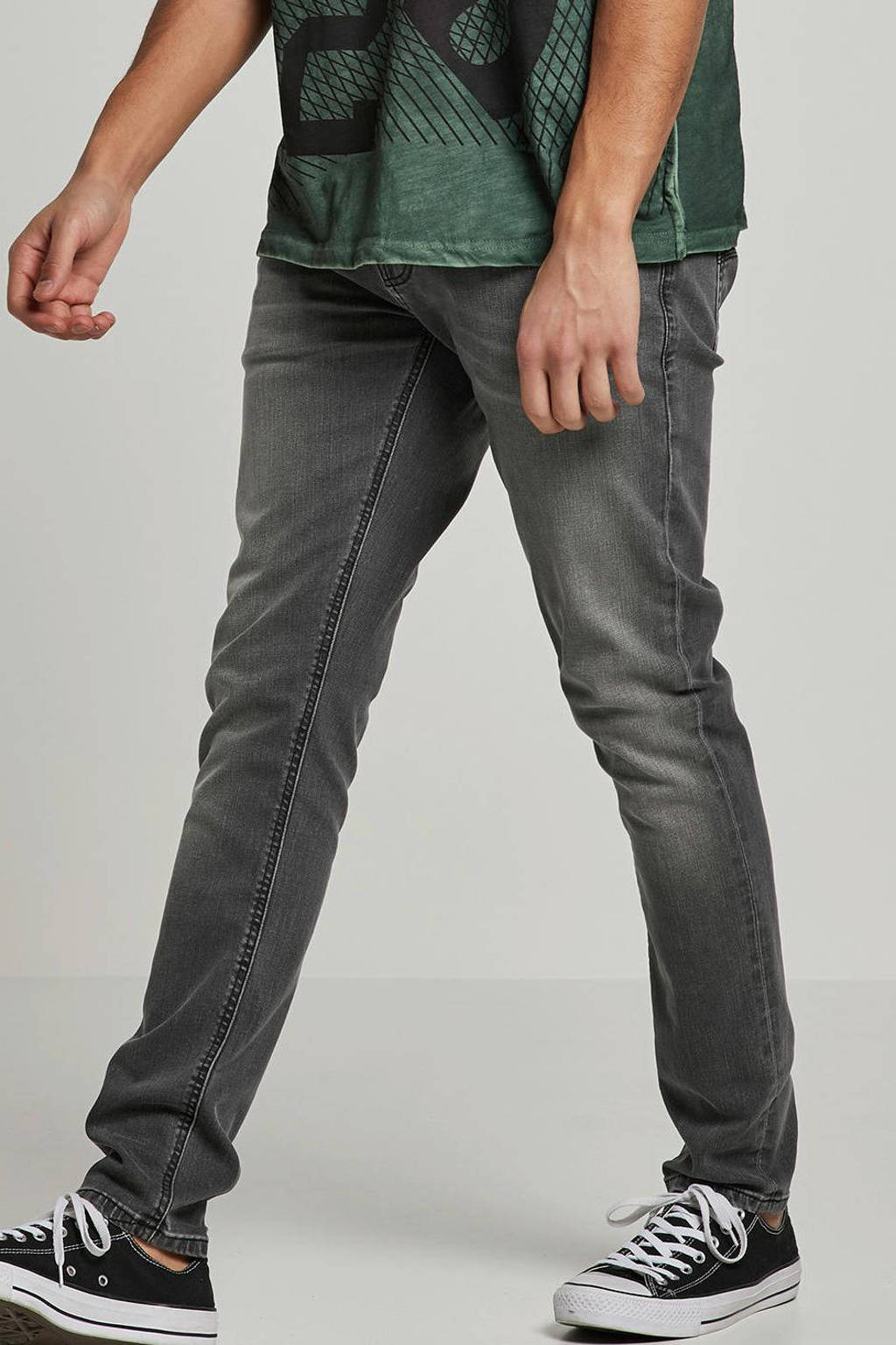 Nudie Jeans skinny jeans Thight Terry mid grey, Mid Grey