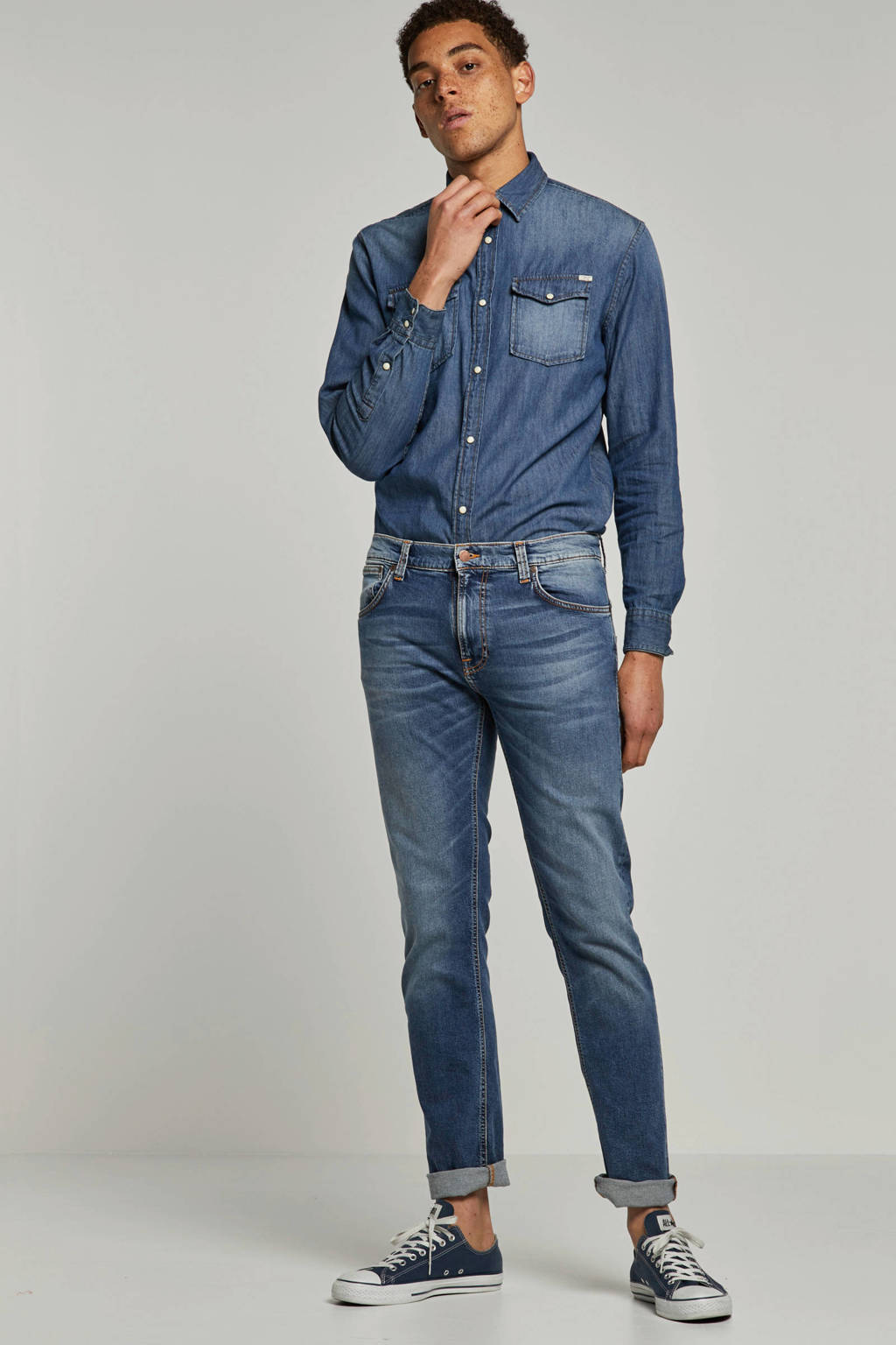 Nudie Jeans  regular regular fit jeans Thin Finn, Light denim