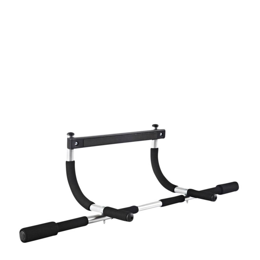 Iron Gym deurtrainer, Zwart/zilver