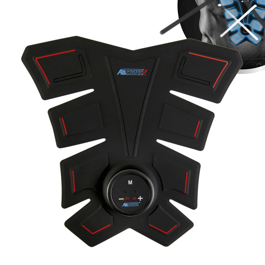 Abtronic X8 buikspiertrainer, Zwart