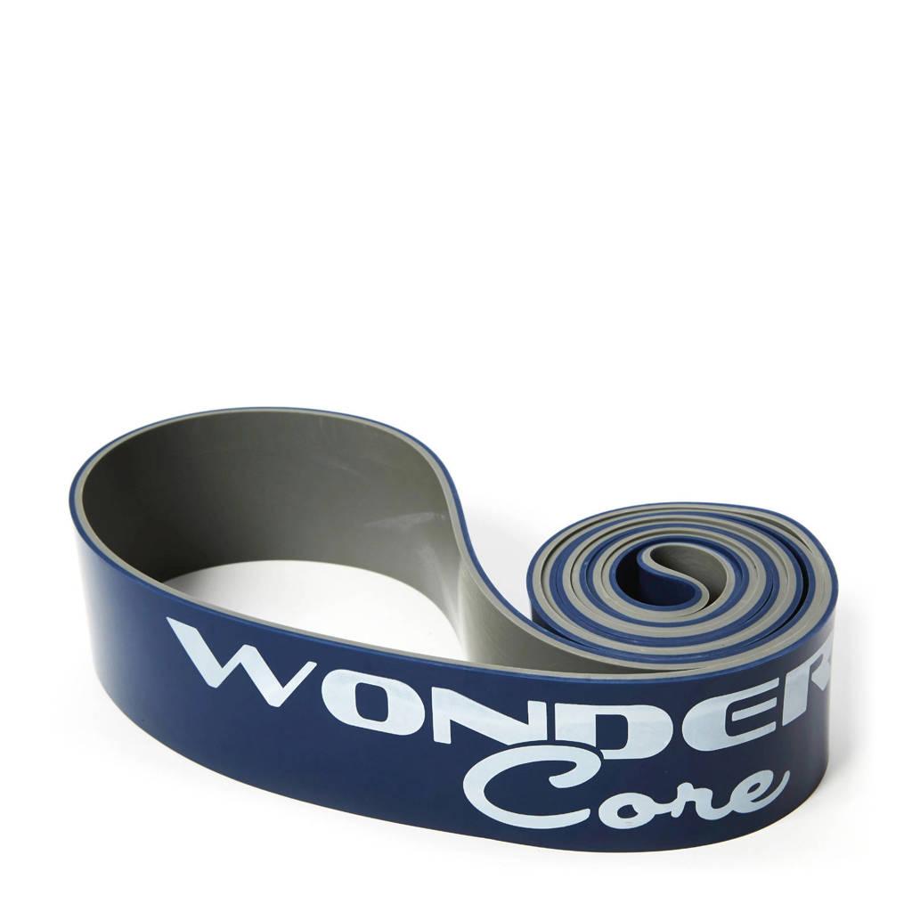 Wonder Core Pull Up Band - 6,4 cm - Donkerblauw/grijs, Donkerblauw/wit