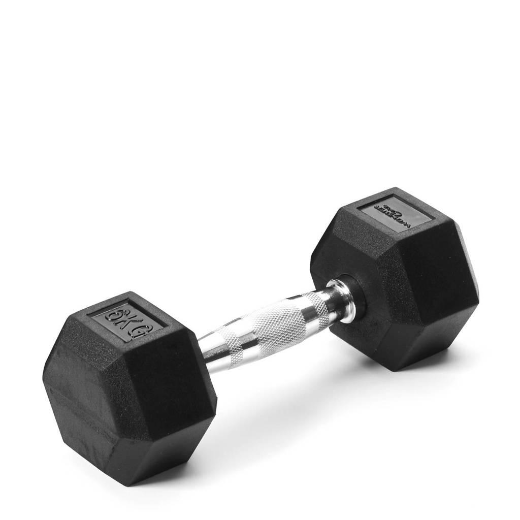 Wonder Core Hex Dumbbell - 6 kg, Zwart