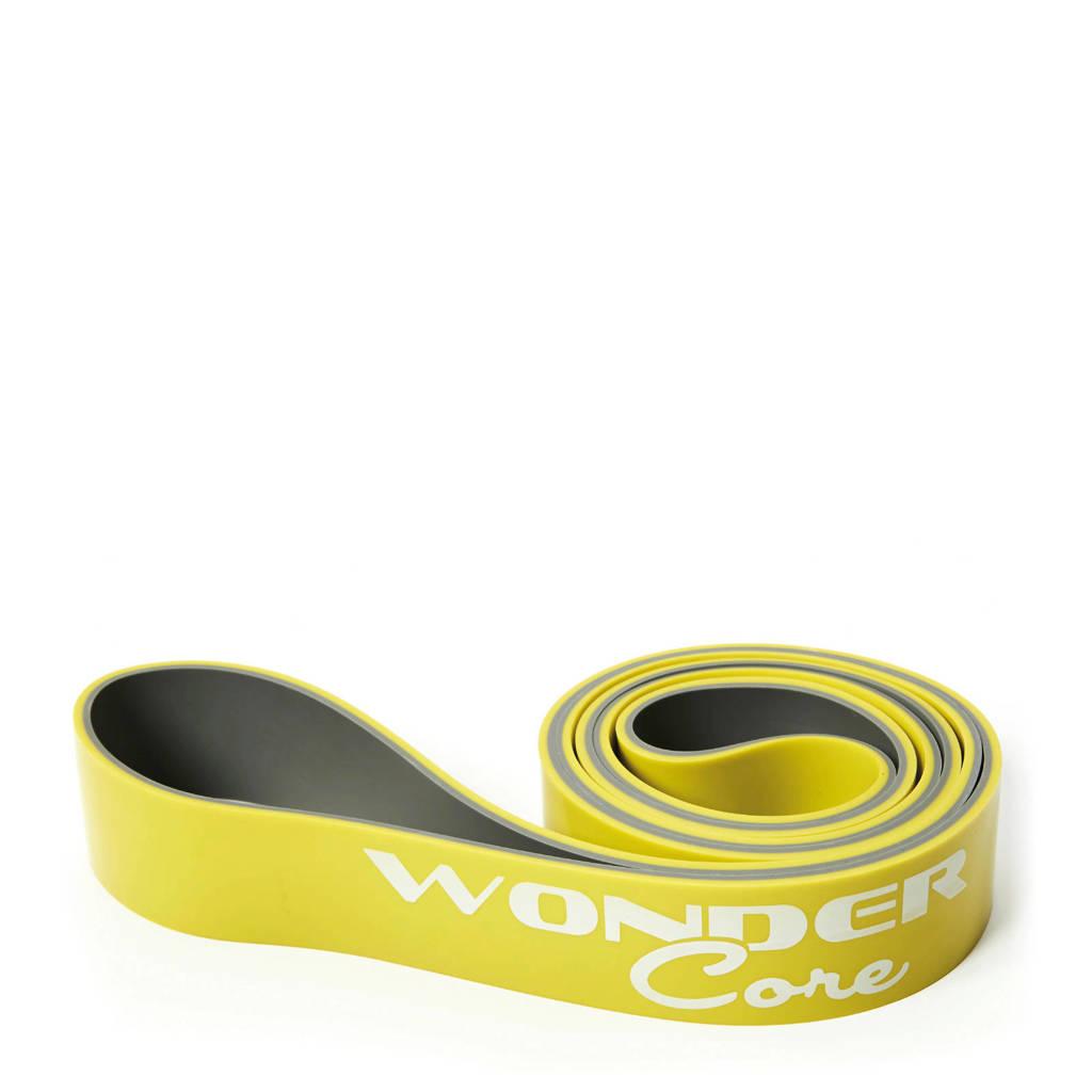 Wonder Core Pull Up Band - 4,4 cm - Groen/Grijs, Appelgroen/wit