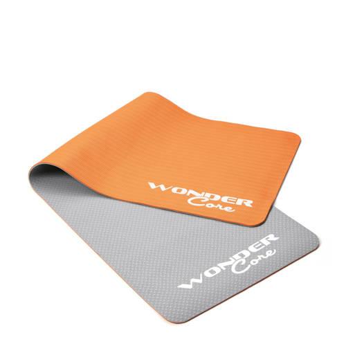 Wonder Core Fitness -Yogamat TPE - 0,6 cm - Gray/Orange kopen