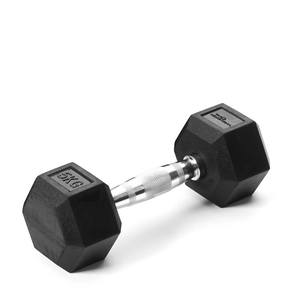 Wonder Core Hex Dumbbell - 5 kg, Zwart