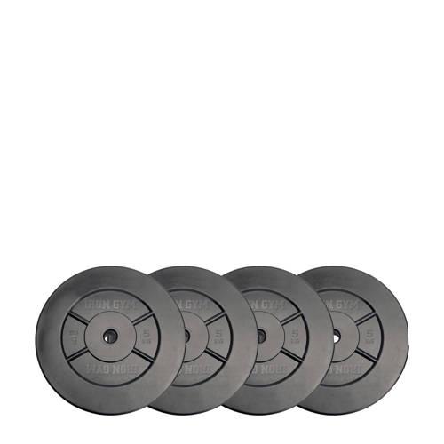Iron Gym gewichten 20kg Plate Set - 5kg x 4 kopen