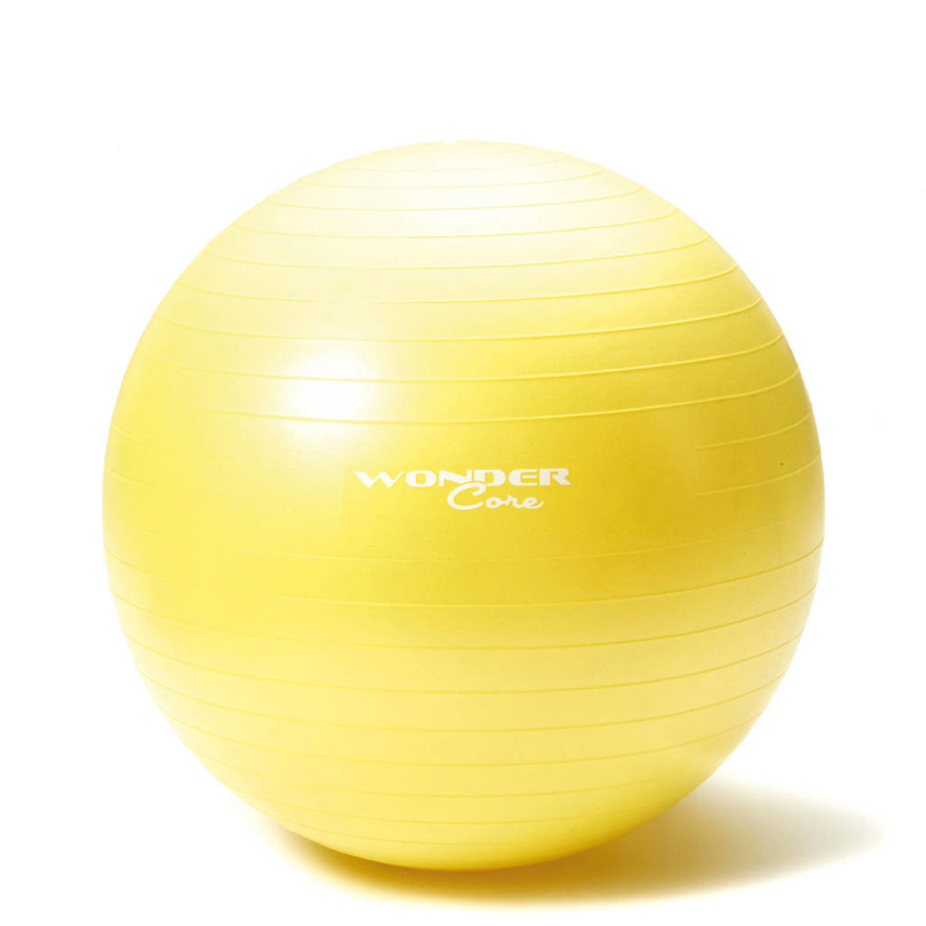 Wonder Core Anti-Burst Gym Ball - 75 cm - Groen/geel, Geel/groen
