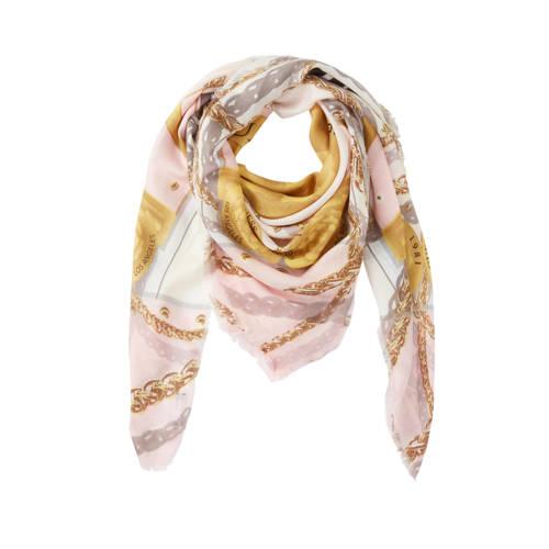 GUESS sjaal Carina Kefiah roze