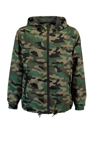 tussenjas Justin met camouflageprint groen