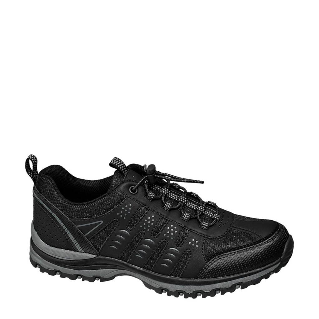 vanHaren Landrover  wandelschoenen zwart, Zwart