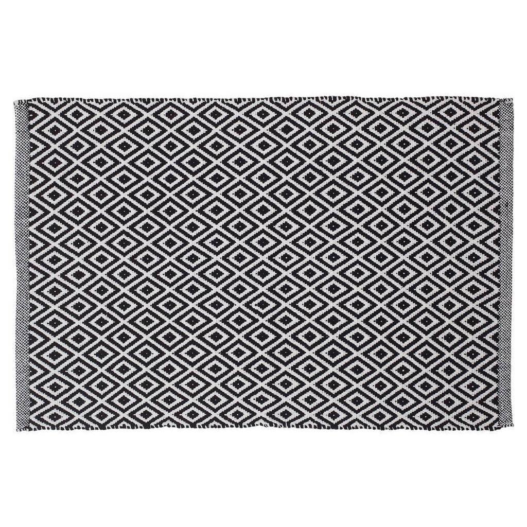Sealskin Trellis badmat (60x90 cm), Zwart/wit