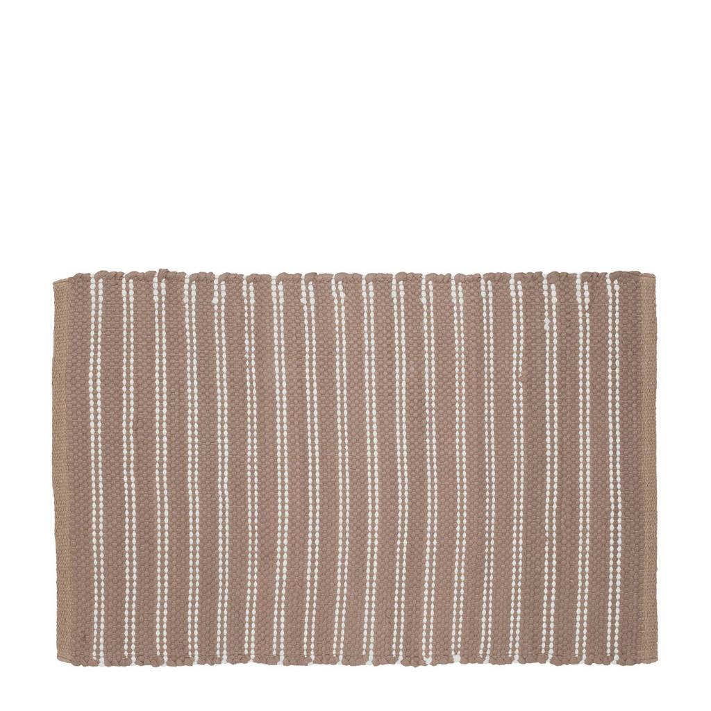 Sealskin Patan badmat (60x90 cm), Bruin/wit