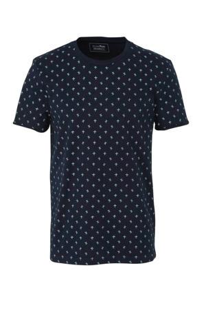 Denim T-shirt met all over print