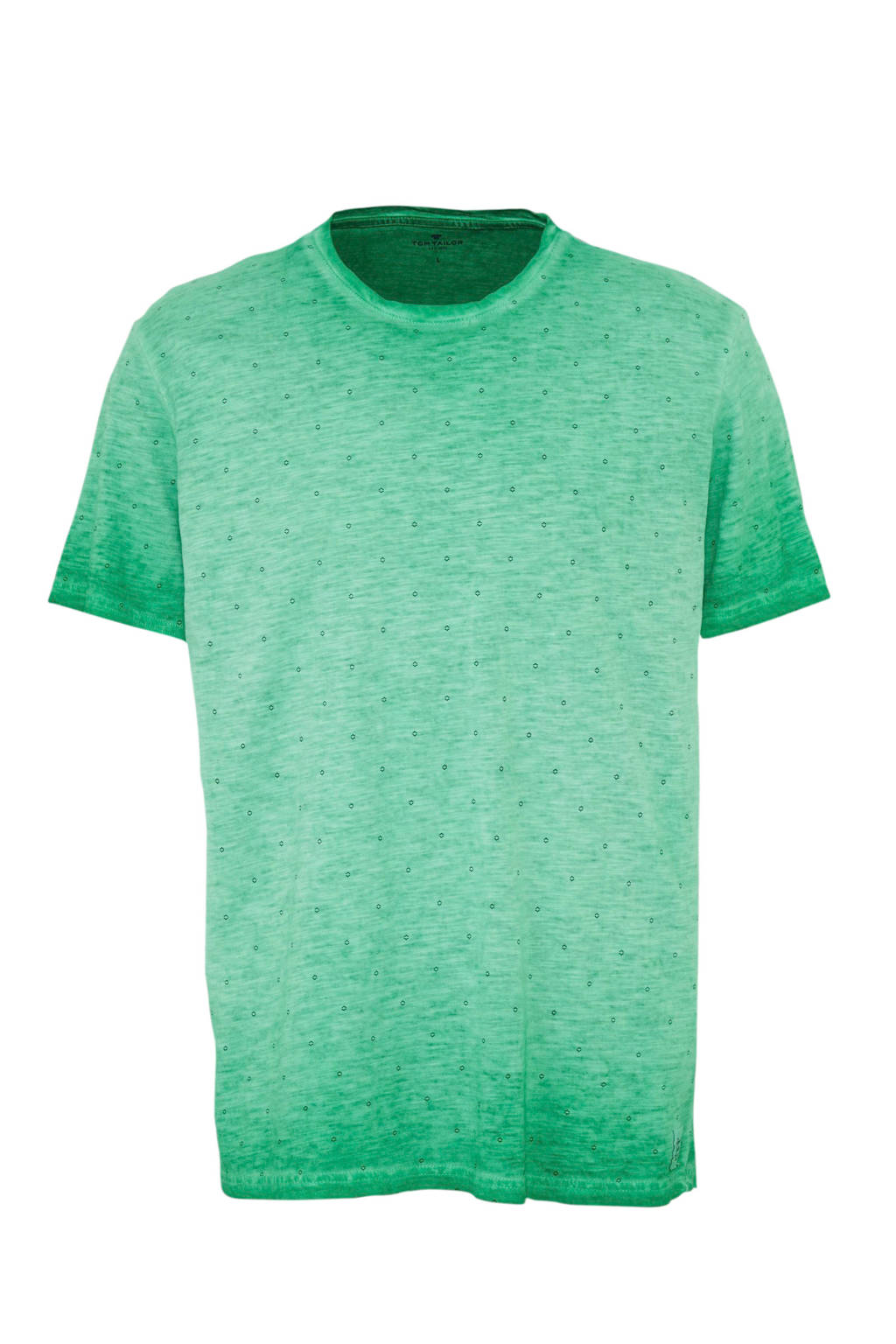 Tom Tailor T-shirt met all over print, Groen