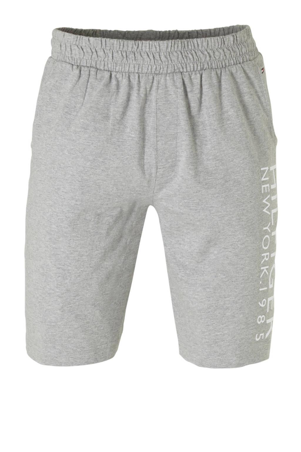 Tommy Hilfiger pyjamashort met printopdruk grijs mêlee, grijs mêlee
