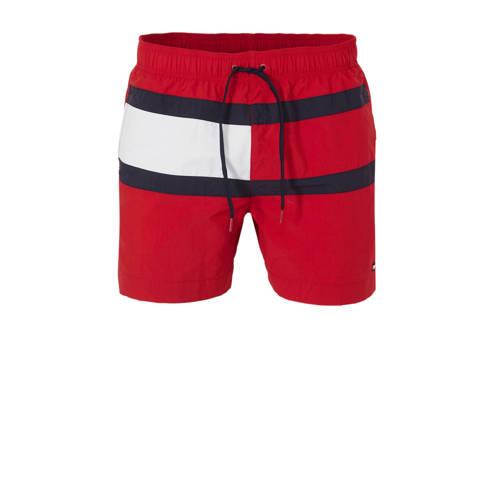 Tommy Hilfiger zwemshort colourblock rood kopen