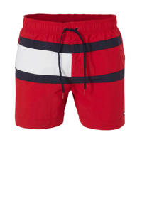Tommy Hilfiger zwemshort colourblock rood, Rood