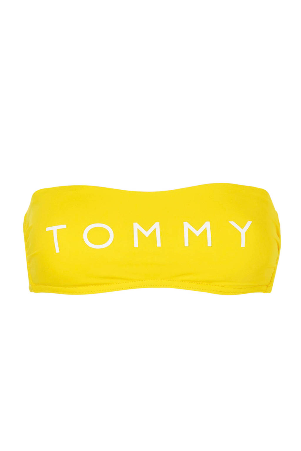 Tommy Merknaam Hilfigerbandeau Met Geel Bikinitop nqTS8fF