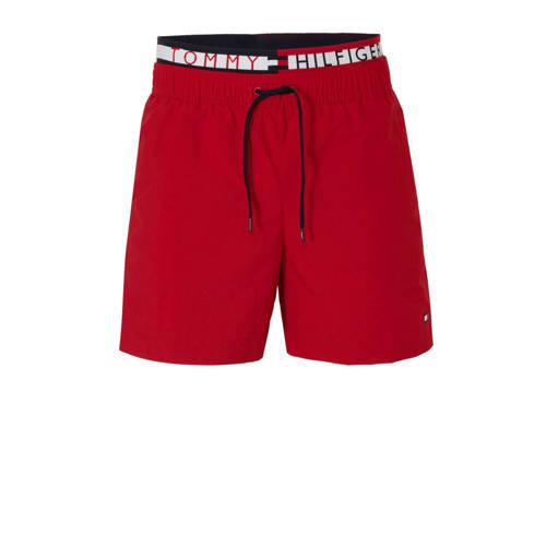 Tommy Hilfiger zwemshort met dubbele tailleband rood kopen