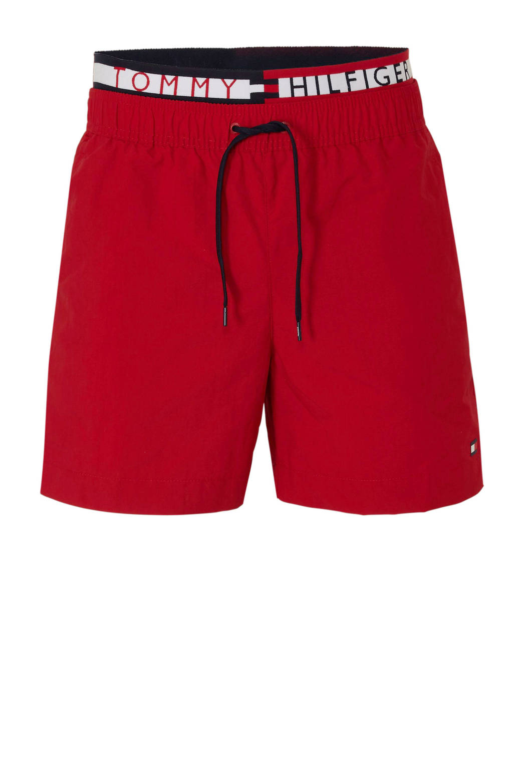 Tommy Hilfiger zwemshort met dubbele tailleband rood, Rood
