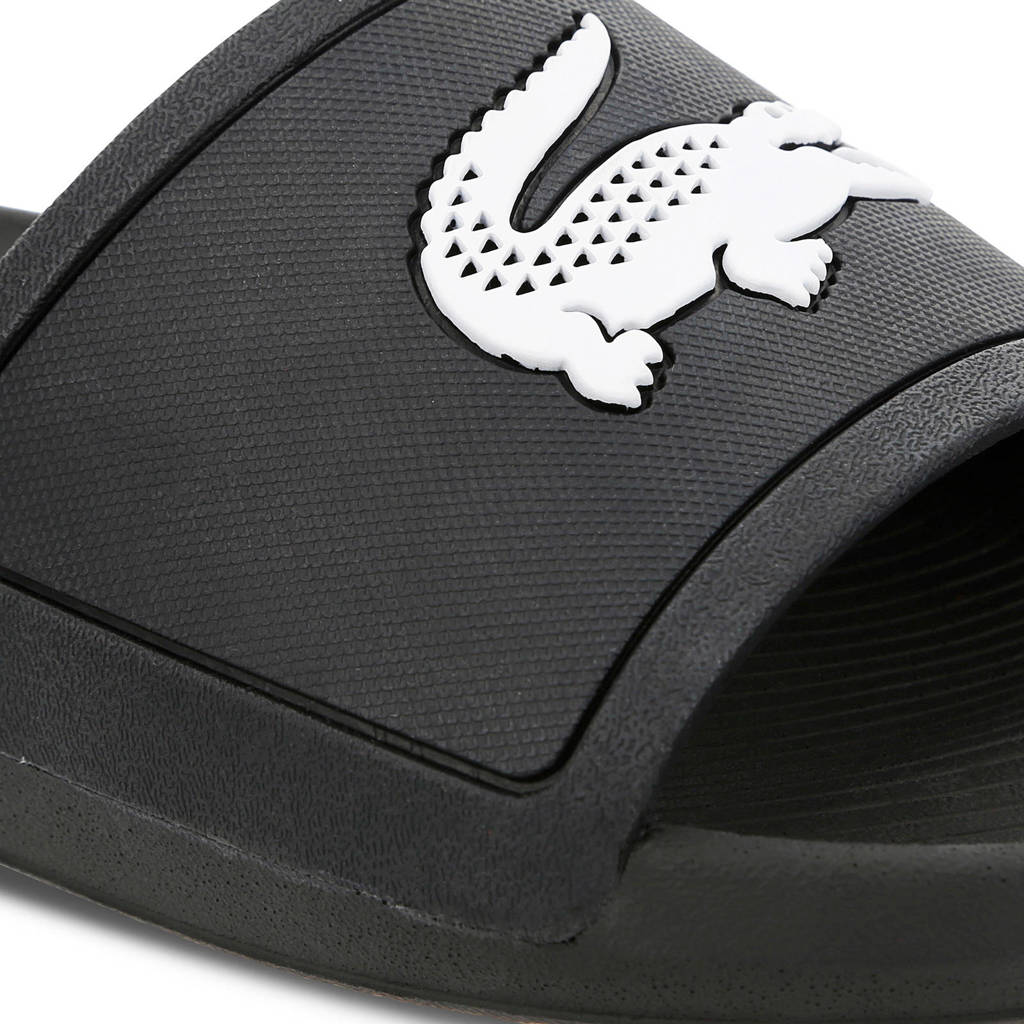 119 wit Croco Slide Lacoste Badslippers Zwart qA10EACSp