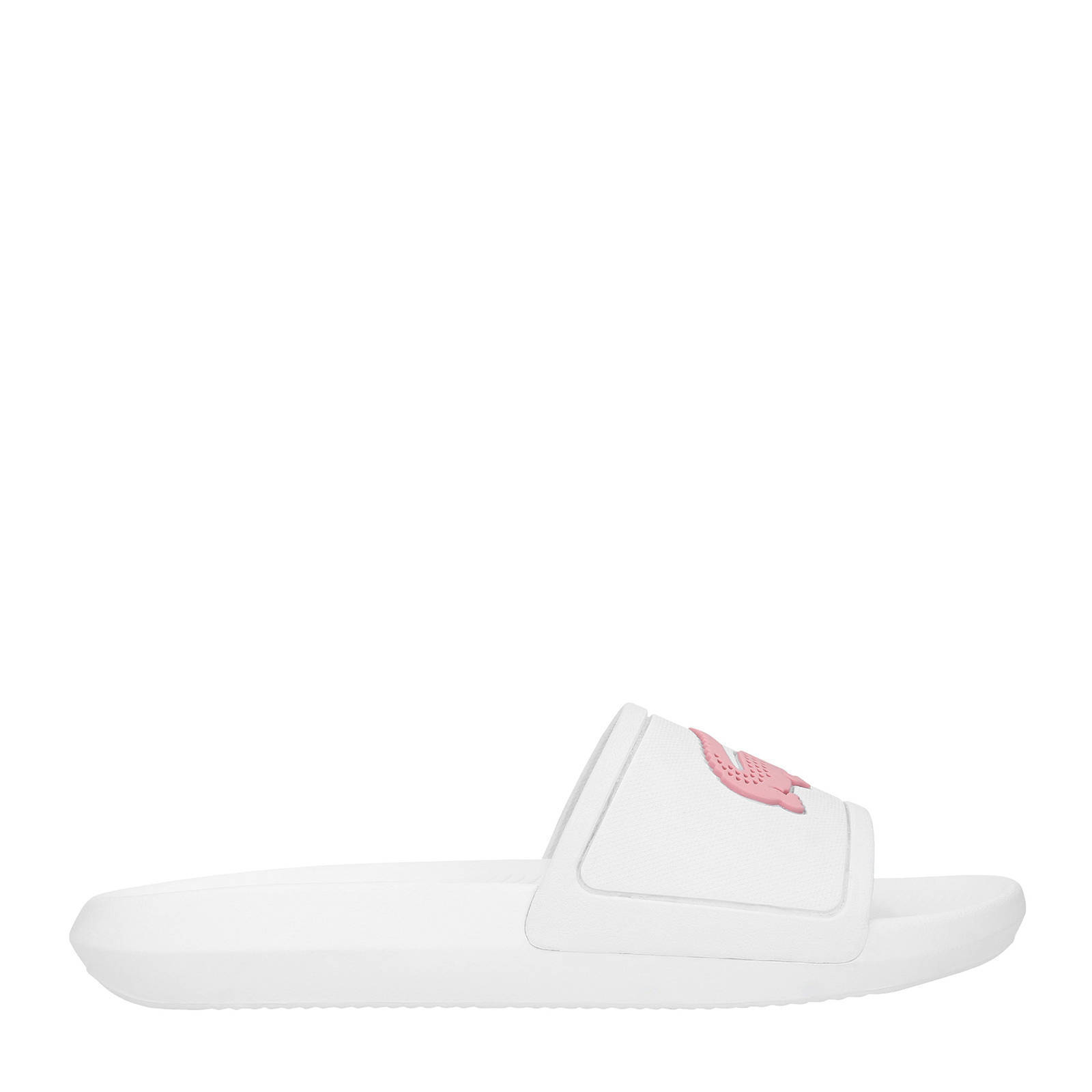 Croco Lacoste 119 Slide roze badslippers wit A8Ww7qpd