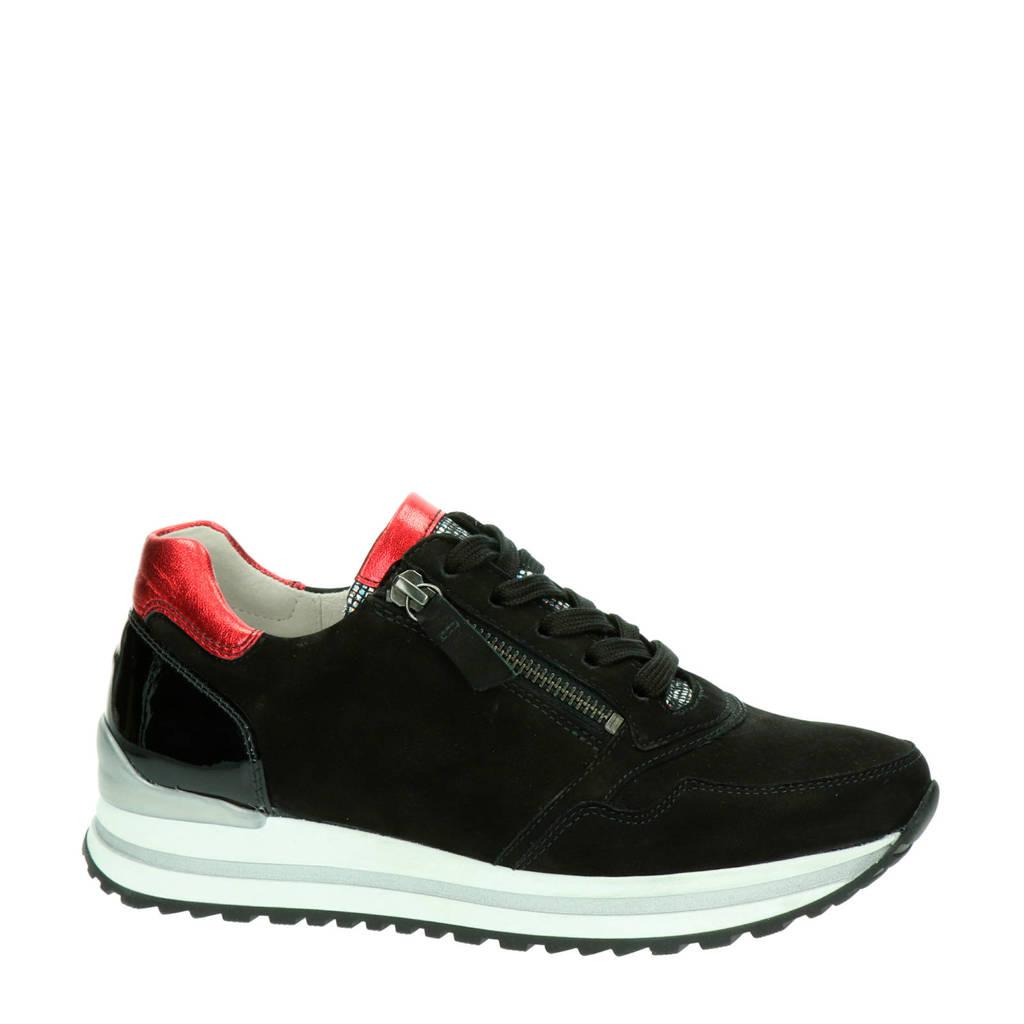 Gabor   suède sneakers zwart, Zwart