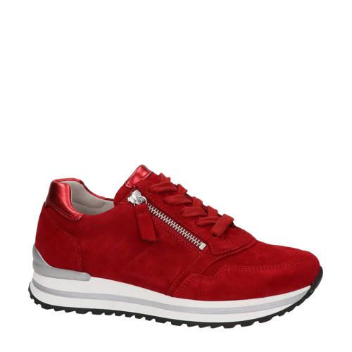 Gabor su??de sneakers rood