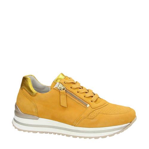 Gabor su??de sneakers geel