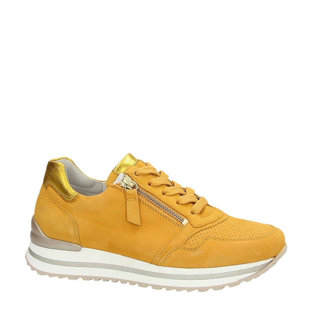Gabor  suède sneakers geel, Geel