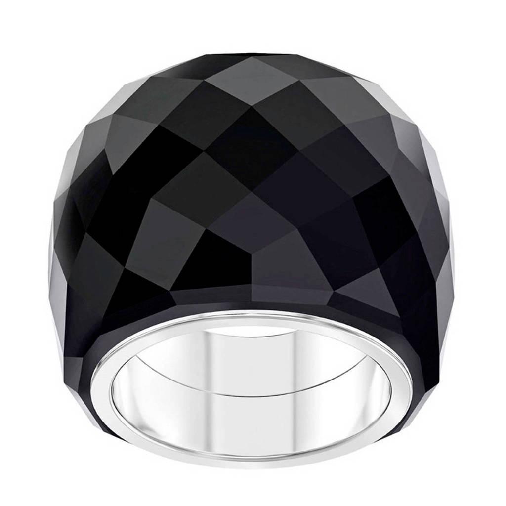 Swarovski ring Nirvana 5410336 zwart/zilver, Roségoudkleurig