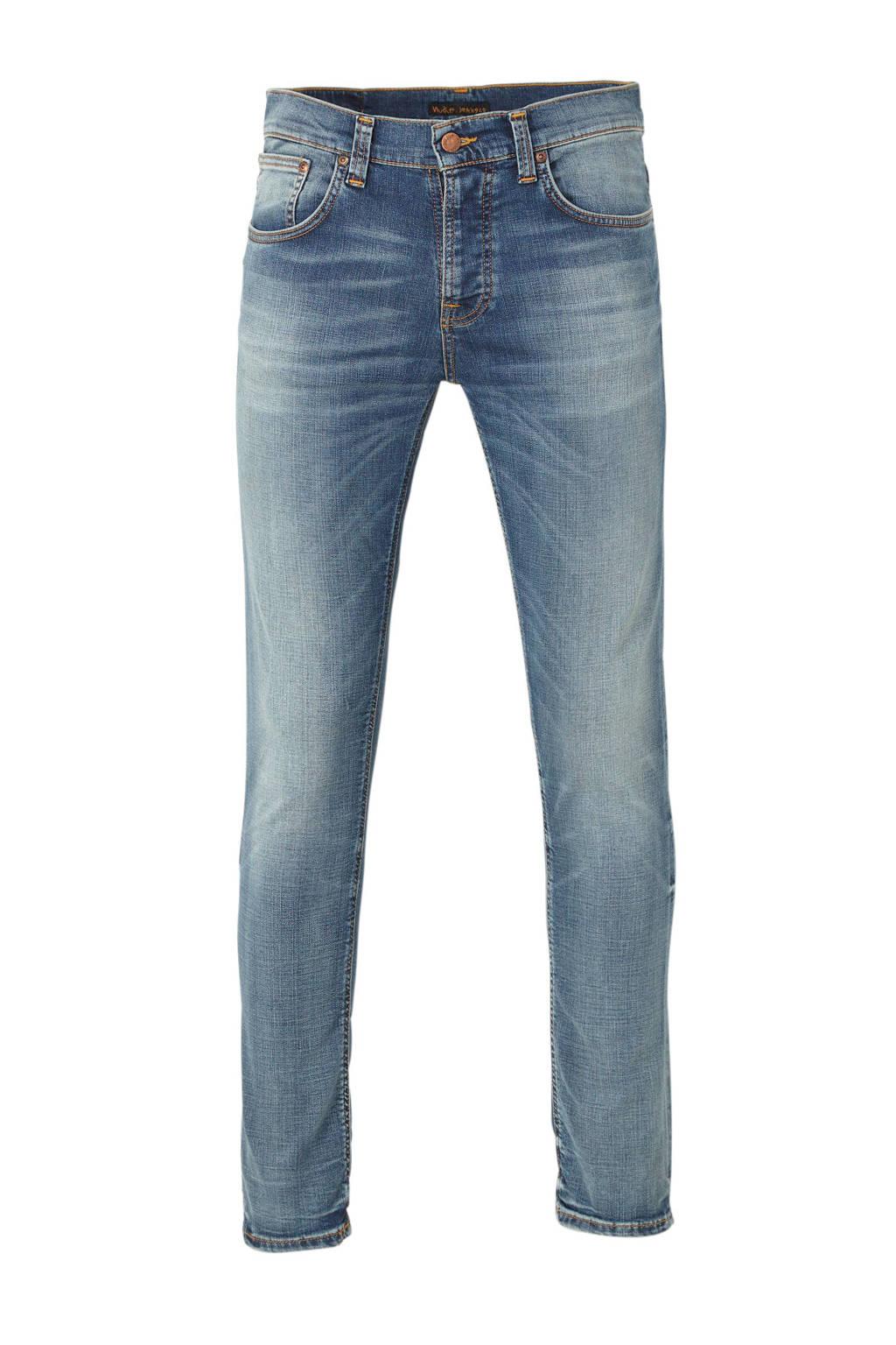 Nudie Jeans slim fit jeans Grim Tim, Worn In Broken