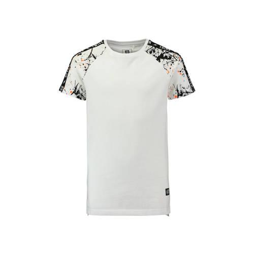 CoolCat long T-shirt met contrast bies wit kopen