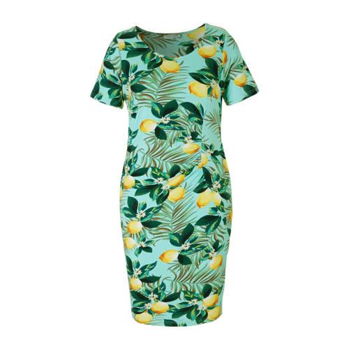 Zhenzi jurk met all over print blauw