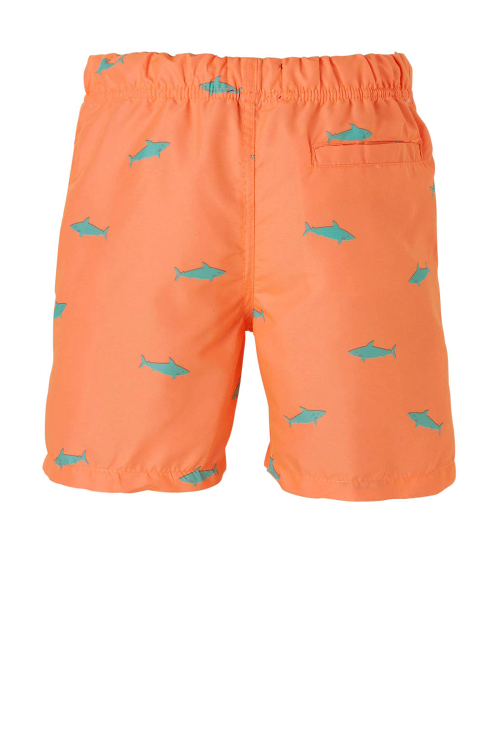 Shiwi zwemshort met all over print oranje, Oranje/groen