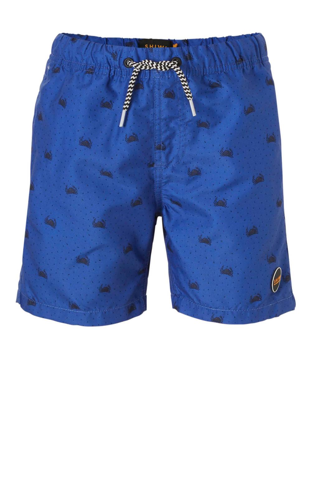 b61c8b470f9f33 Shiwi zwemshort met all over print blauw, Blauw/marine