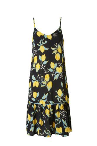 jurk met citroenprint