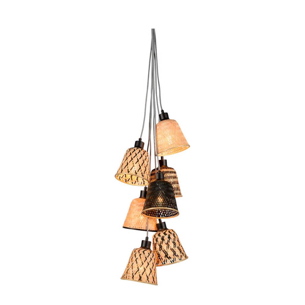 Good&Mojo hanglamp, Zwart/naturel, 17x16 cm