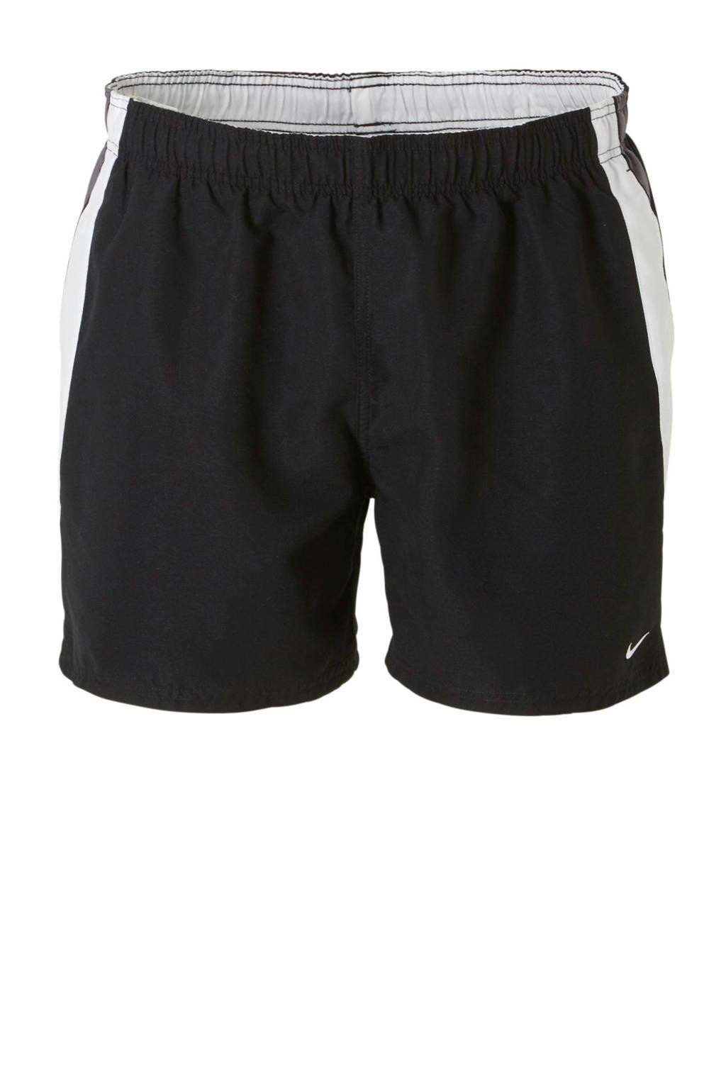 Nike zwemshort zwart, Zwart/wit