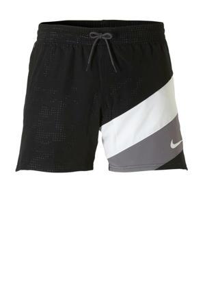 zwemshort met logo zwart