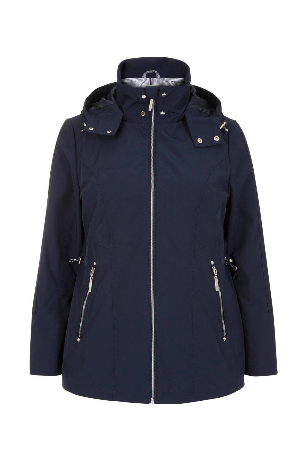 Miss Etam Plus jas donkerblauw, Blauw