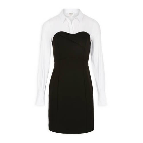 Morgan jurk zwart wit