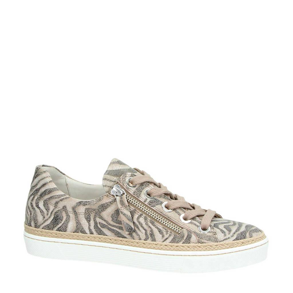 Gabor  suède sneakers zebraprint, beige multi