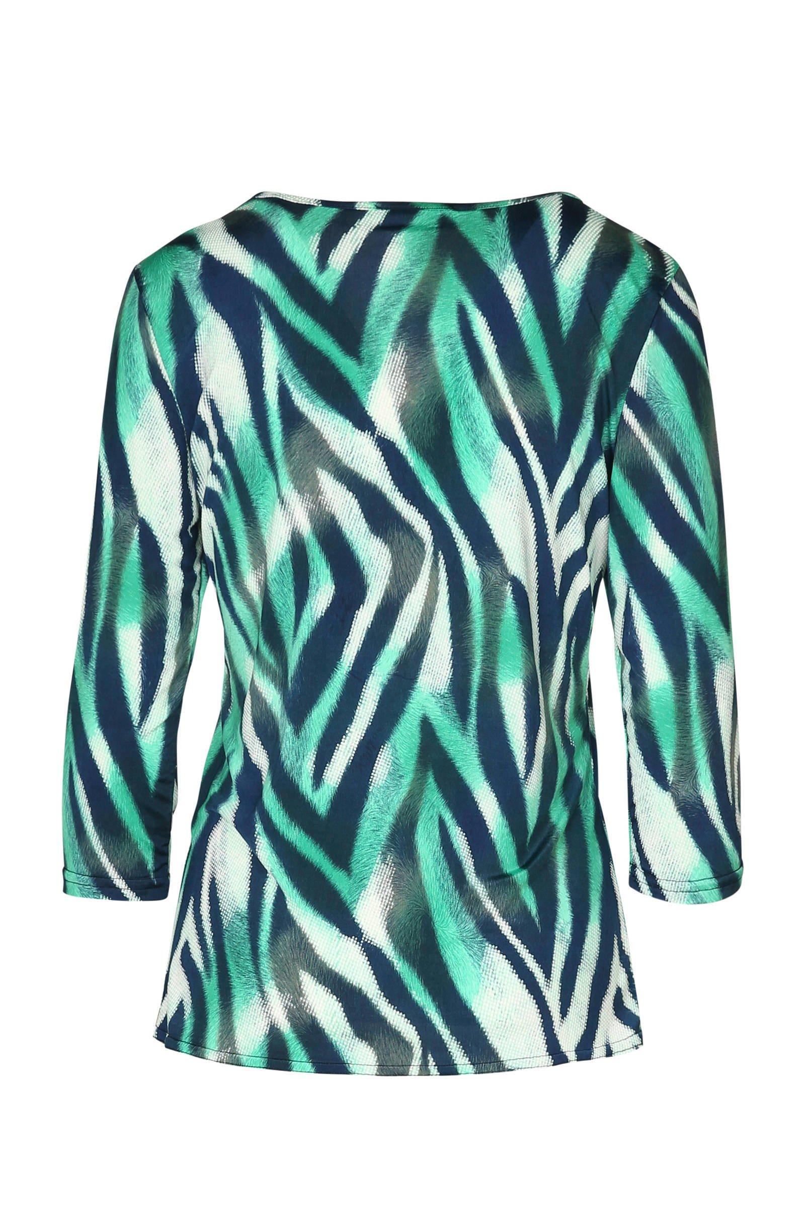 blouse Cassis zebraprint Cassis zebraprint met blouse met groen ETnqfnP