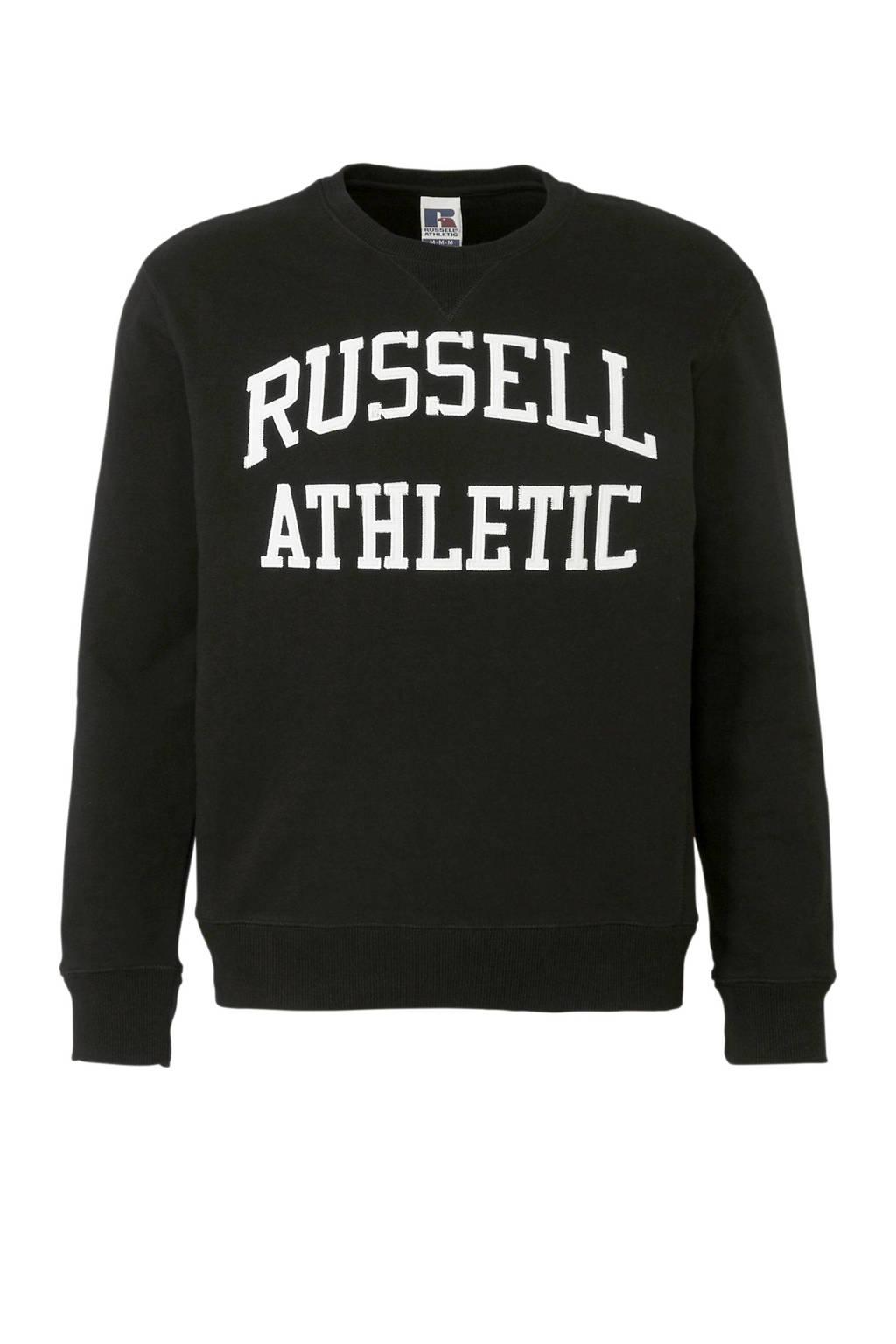 Russell Athletic   sweater zwart, Zwart