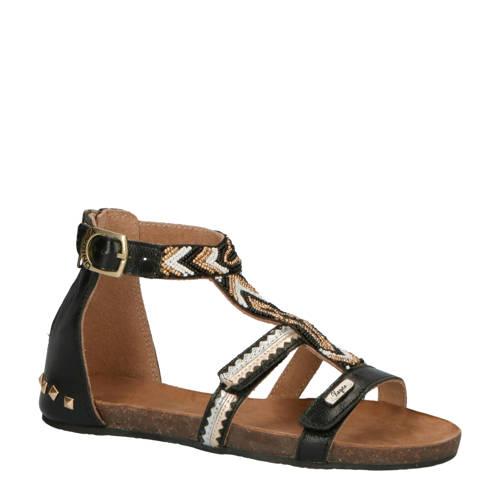 Vingino Audrey leer sandalen zwart kopen