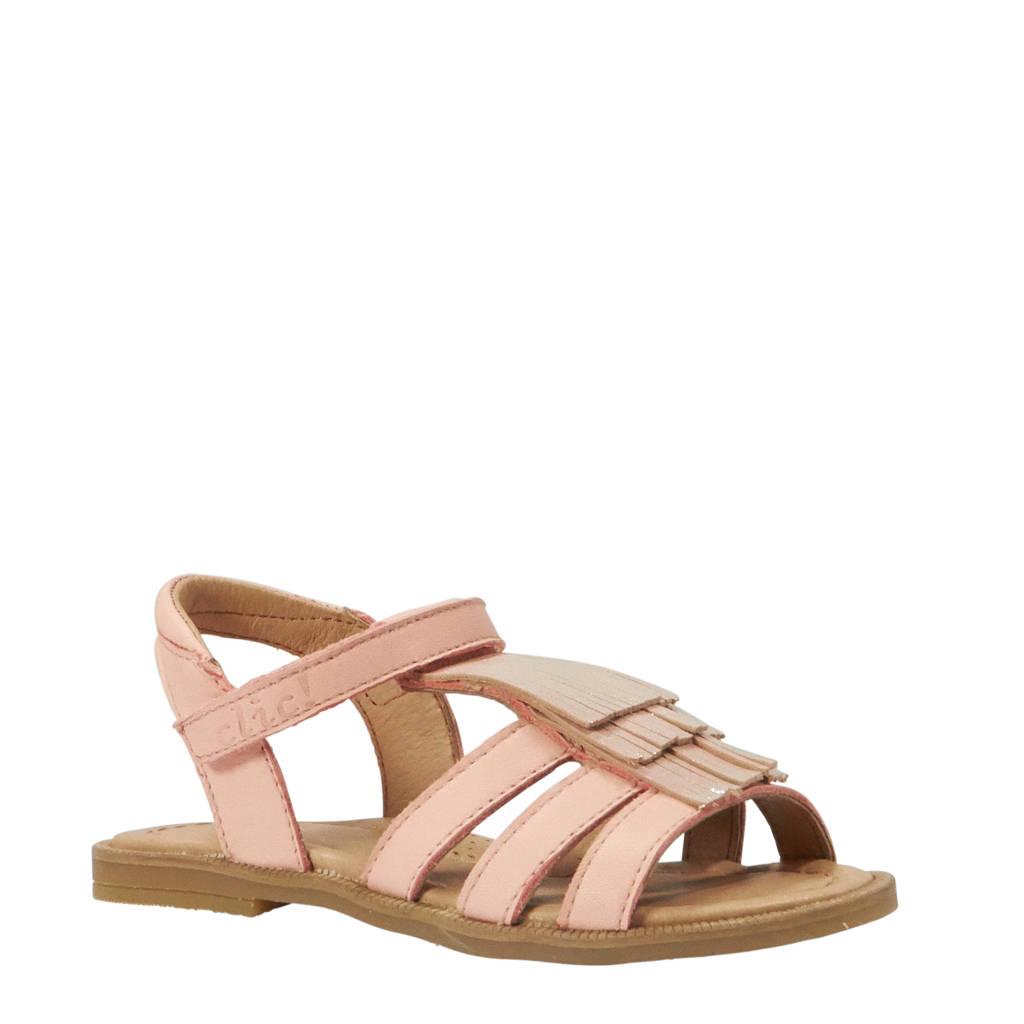Clic CL-9431 leren sandalen roze, Roze