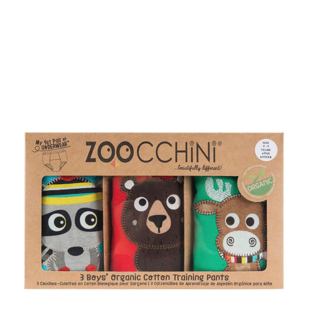 Zoocchini Forest Chums oefenbroekjes 3-4 jaar, Blauw/geel/rood