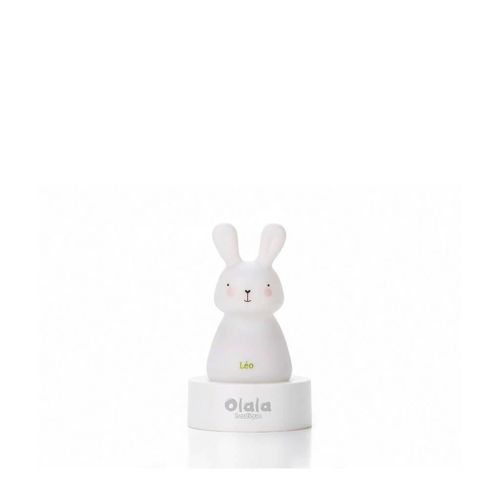 Olala Solo LED-nachtlampje konijntje, Wit